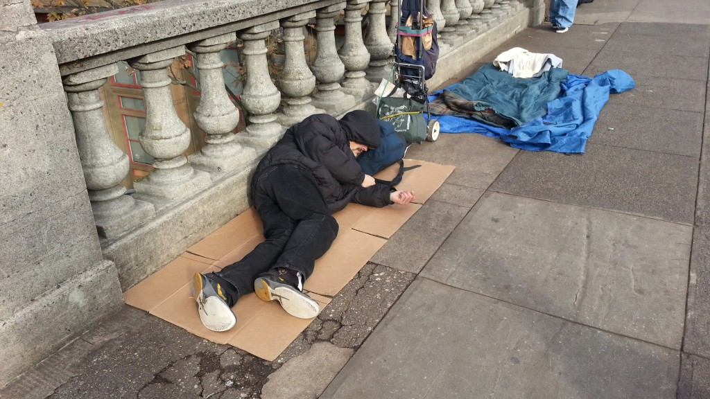 Homelessness is on the increase in the local community.